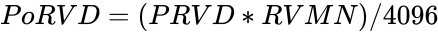 {\displaystyle PoRVD=(PRVD*RVMN)/4096}