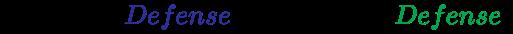 {\displaystyle {\left({Original~{\color {Blue}Defense}\times 0.9=new~{\color {Green}Defense}}\right)}}