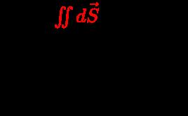 {\displaystyle {\begin{array}{l}\Phi _{J}={\color {red}\iint d{\vec {S}}}\;{\boldsymbol {\cdot }}\;{\vec {J}}\\{\text{where:}}\\\Phi _{J}=Current\;flux\\{\vec {J}}=Current\;density\\\end{array}}}