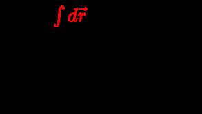 {\displaystyle {\begin{array}{l}\Gamma _{E}={\color {red}\int d{\vec {r}}}\;{\boldsymbol {\cdot }}\;{\vec {E}}\\{\text{where:}}\\\Gamma _{E}=Electric\;strength\\{\vec {E}}=Electric\;strength\\\end{array}}}