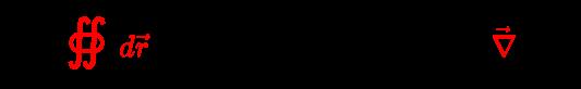 {\displaystyle \forall {\vec {J}}:{\color {red}\oiint d{\vec {r}}}\;{\boldsymbol {\cdot }}\;{\vec {H}}=0\iff \exists \;{\vec {H}}:{\vec {J}}={\color {red}{\vec {\nabla }}}\times {\vec {H}}}