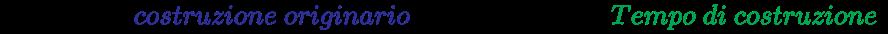 {\displaystyle \left({Tempo\ di\ {\color {Blue}costruzione\ originario}\times 1.05=nuovo\ {\color {Green}Tempo\ di\ costruzione}}\right)}