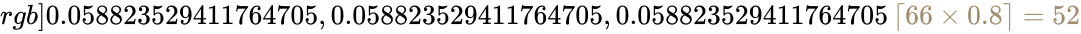 \pagecolor [rgb]{0.058823529411764705,0.058823529411764705,0.058823529411764705}\color [rgb]{0.6392156862745098,0.5529411764705883,0.42745098039215684}\left\lceil {66\times 0.8}\right\rceil =52