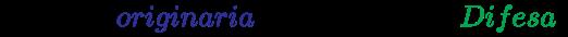 {\displaystyle \left({Difesa\ {\color {Blue}originaria}\times 0.8=nuova\ {\color {Green}Difesa}}\right)}