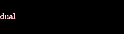 {\displaystyle {\color {pink}{\operatorname {dual} }}\;{\vec {E}}\equiv {\boldsymbol {\vec {E}}}={\begin{bmatrix}0&0&E_{x}\\0&0&E_{y}\\-E_{x}&-E_{y}&0\\\end{bmatrix}}}