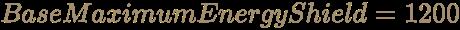 \color [rgb]{0.6392156862745098,0.5529411764705883,0.42745098039215684}BaseMaximumEnergyShield=1200